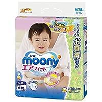 moony 尿不湿 M号 78片(尿片)