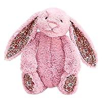Jellycat 毛绒玩具 BASHFUL害羞系列之碎花邦尼兔 碎花郁金粉色中号高31cm
