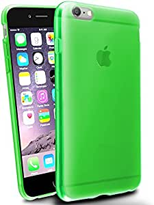 INSTEN TPU Rubber Coated Case for Apple iPhone 6 Plus - Retail Packaging - Neon Green