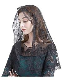 花朵蕾丝 Mantilla Chapel Veil Infinity Veil 教堂面纱 Y072