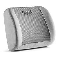 ComfiLife 腰部支撐靠背枕頭辦公椅和汽車座椅靠墊 - *泡沫帶可調節肩帶和透氣 3D 網布
