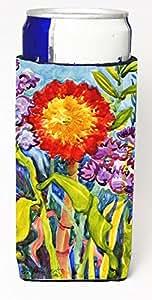 Caroline's Treasures 6075CC 花朵-向日葵罐或瓶子 Koozie Hugger 多种颜色 Slim Can 6075MUK