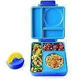 OmieLife OmieBox 便当饭盒 带不锈钢真空绝缘内置食物杯,天蓝