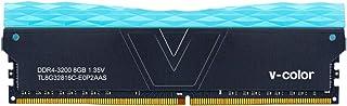 V-Color Prism II RGB 8GB (1 x 8GB) DDR4 3200MHz (PC4-25600) CL16 1.35V 台式机内存 – 蓝色 (TL8G32816C-E0P2GBS)
