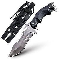 HLAKER 禾莱克 汉道D-123型高硬度露营直刀 野外绝境求生防身刀具
