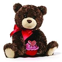 GUND Sprinkles 情人节泰迪熊毛绒玩具,棕色,8 英寸