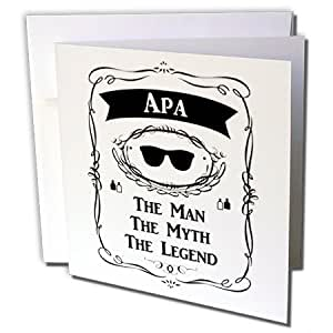 InspirationzStore The Man The Myth The Legend - Apa The Man The Myth The Legend 父亲匈牙利泰米尔韩语 - 贺卡 Individual Greeting Card
