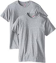 Hanes 男士纳米优质棉 T 恤(2 件装)