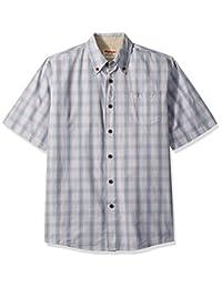 WRANGLER 男式 authentics 短袖格子梭织衬衫