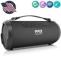 無線便攜式藍牙Boombox 揚聲器 - 200 瓦可充電 Boom Box 音箱便攜式音樂桶大聲立體聲系統,帶 AUX 輸入,MP3/USB/SD 端口,FM收音機,4 英寸高音揚聲器 - Pyle PBMSPG1BK
