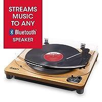 ION Audio レコードプレーヤー Bluetooth対応 天然木