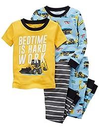 Carter's 男童 4 件套。 结构贴身舒适棉质睡衣