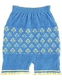 Wacoal华歌尔 孕妇针织打底衫 一分长 产前 产后兼用 毛裤 MMW790 BU/ブルー M-L