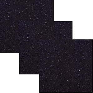 Siser EasyPSV 闪光永久自粘工艺乙烯基 30.48 x 30.48 厘米 3 张装 Midnight Violet Purple PEPSVGL12x12-3midnight