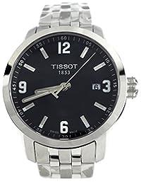 Tissot Watches 男式 PRC 200 手表(黑色)