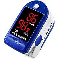 Facelake ® FL400 脉搏血氧仪,带便携盒,电池,颈部/腕带 - 蓝色