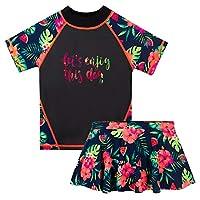 tfjh 女孩泳衣2–12岁 UPF 50+ UV