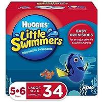 HUGGIES 好奇 Little Swimmers 游泳紙尿褲, 尺寸5-6 大號, 17件,  2包裝