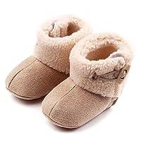 喜安贝 婴儿鞋子0-1岁软底学步鞋冬季男女宝宝靴子短靴婴儿雪地靴学步靴