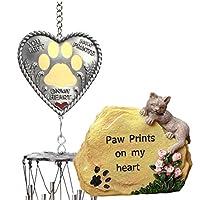 BANBERRY DESIGNS 猫咪纪念礼品套装 - 我的心形小猫花园石 -