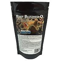 Brightwell Aquatics Reef Blizzard-O 粉末植物食品混合适用于海底和生物阀 50G