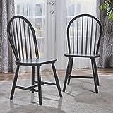Christopher Knight Home 302241 Declan 餐椅(2 件套),黑色