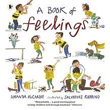 情绪绘本 英文原版 A Book of Feelings 儿童情感 心理健康 情绪表达宣泄 3-6岁 [平装] Amanda McCardie、 Salvatore Rubbino