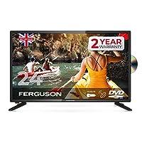 Ferguson F2420FS-12V 24 英寸高清就緒 LED 12V 電視 內置 DVD 播放器和衛星調諧器