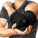 PowerLix 护肘压力支撑(一对)- *、网球肘支撑和高尔夫球肘*、*、锻炼、举重 - 减少肘部*