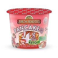 Strawberry Shortcake Pancake Cups by Birch Benders, Grain-free, Gluten-Free, Keto friendly, only 4 Net Carbs (8 Single Serve Cups)