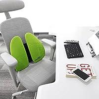 米乔人体工学办公室腰垫汽车腰靠车用靠垫靠背座椅子护腰椎靠枕孕妇沙发床头双背垫夏季透气 (浅绿色)