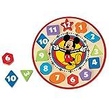 Melissa & Doug 迪士尼米奇老鼠木制形状认知时钟