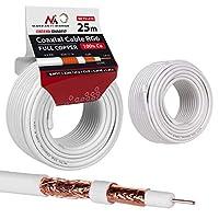 Maclean 天线电缆 同轴电缆 RG6 纯铜 * Cu 同轴天线 SAT 卫星电缆 电视MCTV-470 25m
