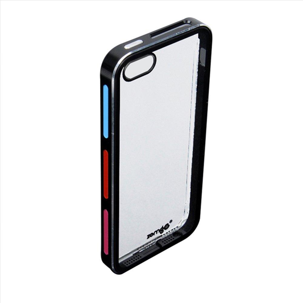 zomgo众果iphone5边框金属撞色iphone5s手机键盘v边框壳i5深手机金属迷你图片