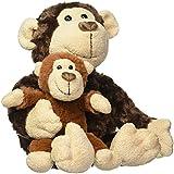 GUND 温情母子猴毛绒玩具 -14英寸(36cm)(亚马逊进口直采,美国品牌)