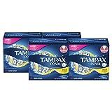 tampax PEARL 常规塑料卫生巾无味50对装4盒共200支 )