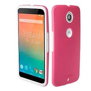 Toiko Nexus 6 手机壳谷歌 Nexus 6 手机壳全包防撞撞击手机壳摩托罗拉 Nexus 6TK114064 粉红色