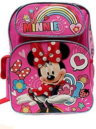 Disney 米妮老鼠 彩虹粉色 16 英寸背包