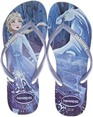 Havaianas 女童修身冰雪奇缘夹趾拖鞋