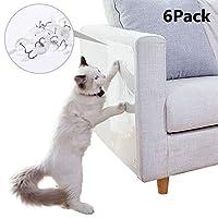Xergur 高级猫沙发保护器 - 猫家具保护器防刮训练胶带,猫咪刮擦防撞垫适用于沙发家具保护猫咪刮擦防止剂,18.5 英寸 X 6 英寸/6 件 18.5*6inch