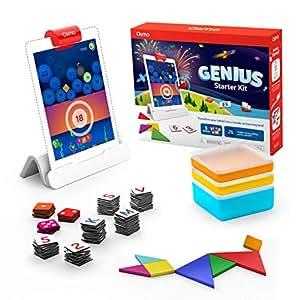 "Osmo – Genius iPad 包 – 5 个手动学习游戏 – 适合 6-10 岁儿童 Genius Starter Kit Newest Version ""Multi"""