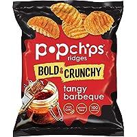 Popchips 味濃的脊薯片 燒烤薯片 每份0.8盎司(22.64克)(24件裝)