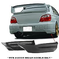 GTSpeed 适用于 05-07 斯巴鲁 Impreza WRX STI 后部 PU 保险杠护唇加插式铲子围裙(不适合四门轿车/仅适用于轿车)