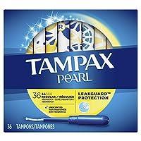 tampax PEARL 塑料无味卫生棉条 无香型 标准型 36份 36