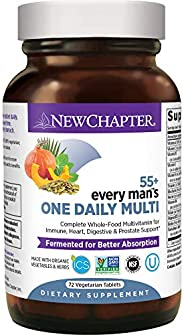 New Chapter Multivitamin for Men 50 Plus - Every Man's One Daily 55+ with Fermented Probiotics + Whole Foo