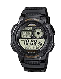 Casio 卡西欧男士 AE-1000W-1AVDF 树脂运动型手表(黑色表带)