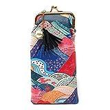 Value Arts 日本和服山脉眼镜袋,17.78 cm 长