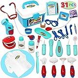 Joyin Toy *套装 31 件 Pretend-n-Play *用包带电子听诊器和大衣,儿童节日礼物、学校课堂、复活节礼物和*角色扮演服装装扮。