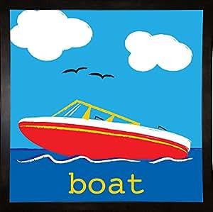 框架美国船装裱印刷品 50.8 厘米 x 50.8 厘米 Melanie Parker-MELPAR103626 价格实惠 黑色 中号 20x20 103626-42-1FUSA