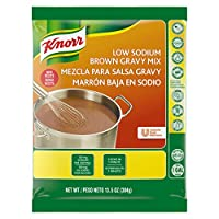 Knorr Gravy Mix Low Sodium Brown 13.5 oz, Pack of 6